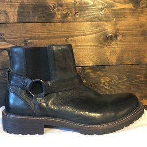 Men's Lucky Black Leather Boots